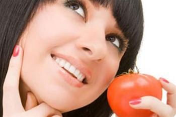 Маска для лица из помидоров: результат