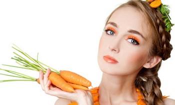 Маски из моркови для лица: результат